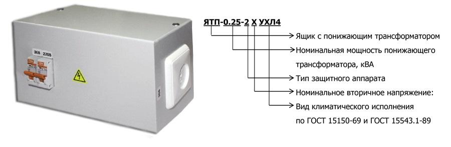 Ящик с понижающим трансформатором ЯТП